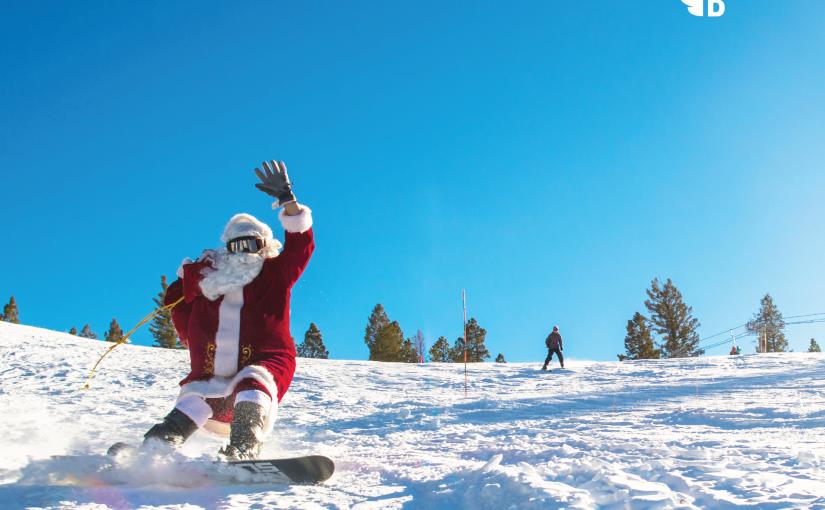 Even Santa has bluebird days! 