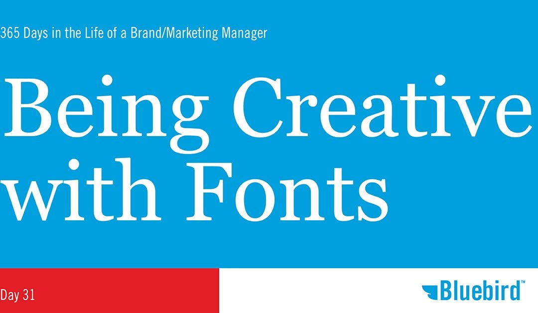 Being Creative with Fonts